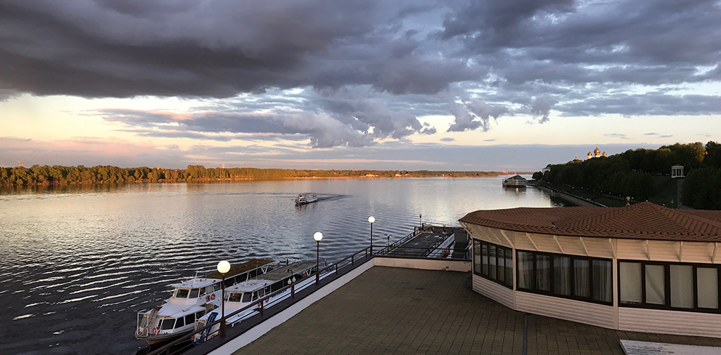 Volga River Embankment in Yaroslavl City